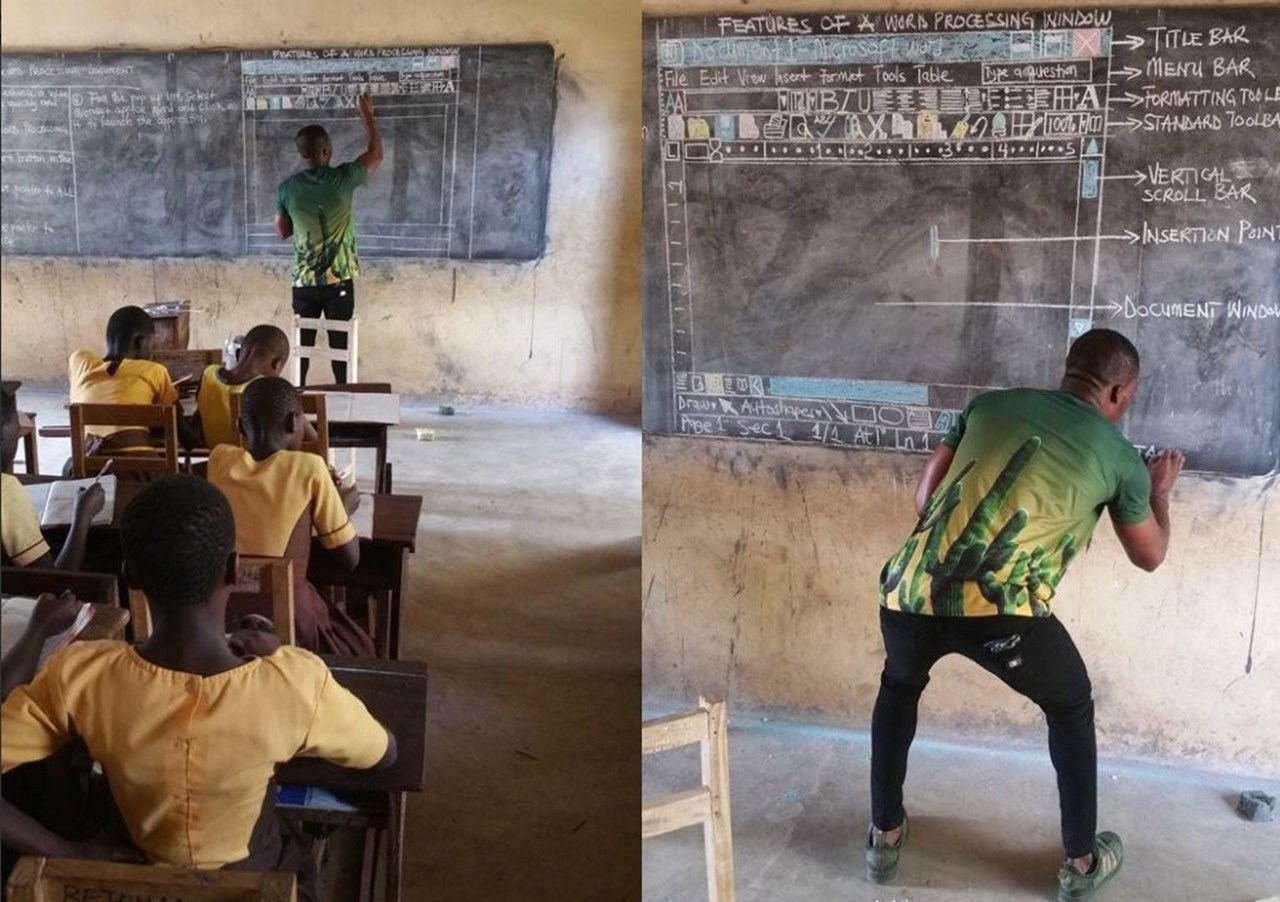 Tech giant Microsoft donates dozens of computers to a school in Ghana