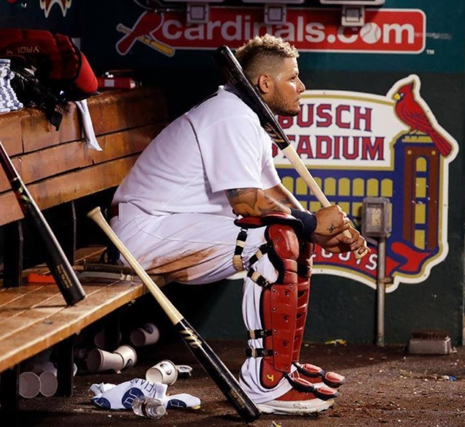 Yadier Molina's two-run double in eighth inning