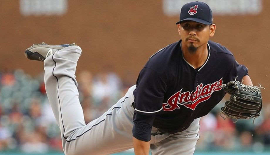 Carlos Carrasco allows just four hits over 7 1/3 shutout innings