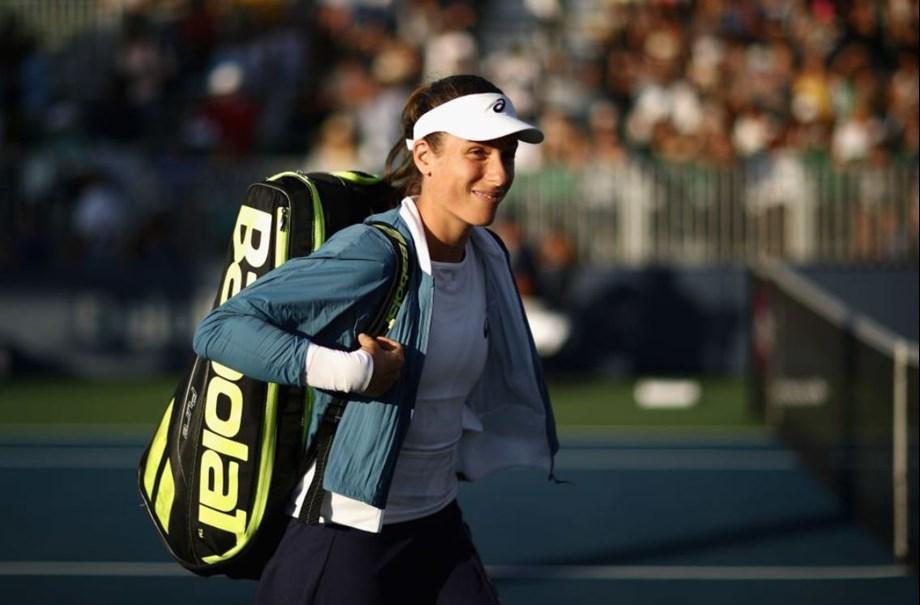 Johanna Konta follows victory over Serena Williams into quarters at San Jose