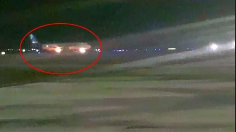 Engine of Jazeera Airways aircraft catches fire, passengers safe