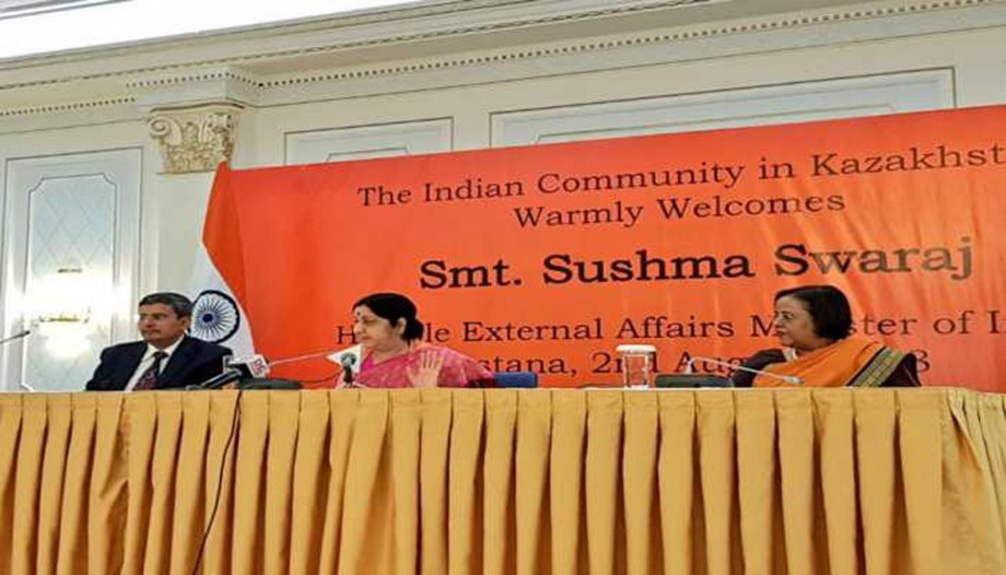 Sushma Swaraj wants to deepen cooperation with Kazakhstan