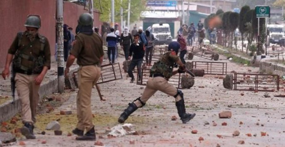 Clashes in Jammu and Kashmir between security forces and stone pelters
