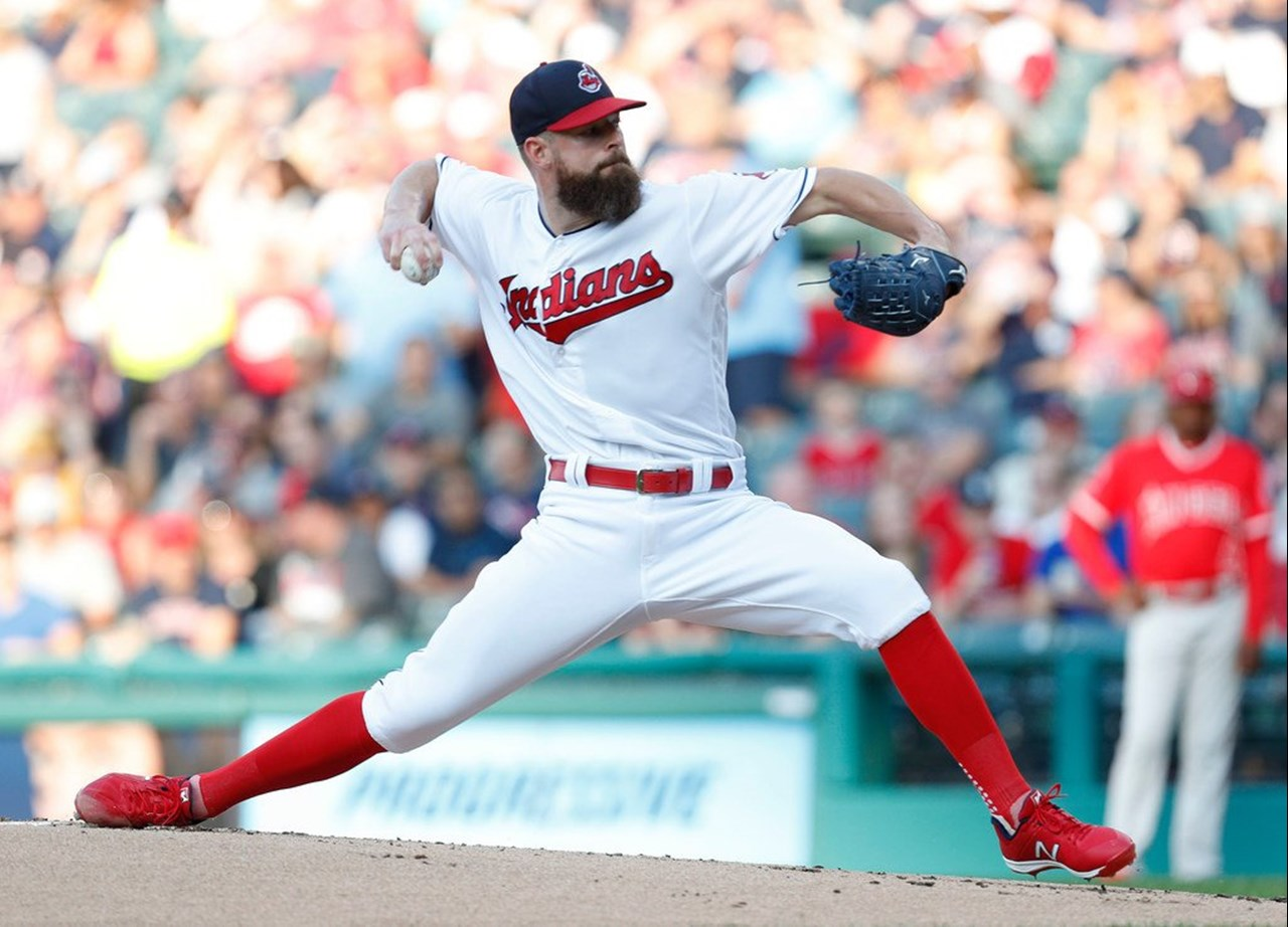 Corey Kluber throws three-hit shutout to lead host Cleveland Indians