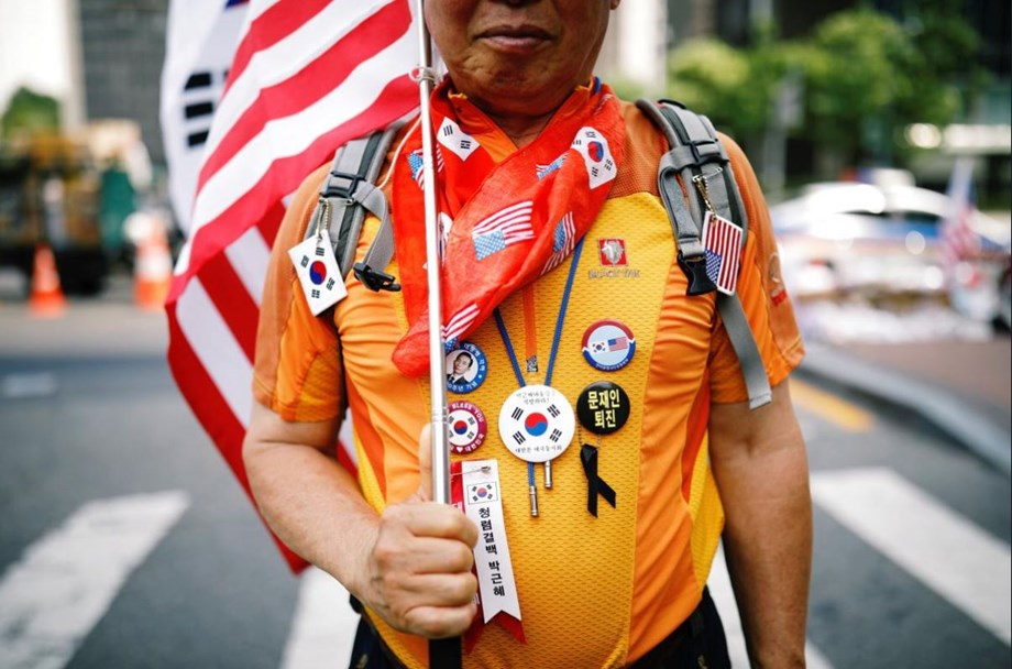"""Trump supporters in S Korea hail """"guardian of liberty"""""""