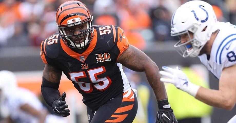 Cincinnati Bengals linebacker Vontaze Burfict passes physical