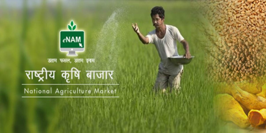 e-NAM platform promotes better marketing opportunities for farmers to sell their products through online