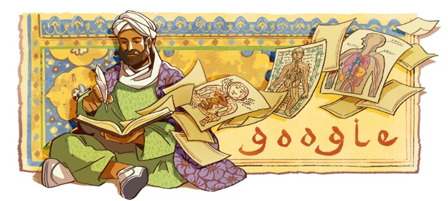 Google Doodle celebrates Ibn Sina's 1038th Birthday