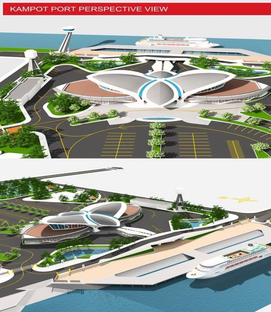 Construction work of Kampot International Port begins in Cambodia