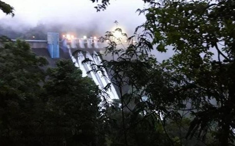 Idamalayar Dam shutters opened this morning results water level increase in Periyar river's