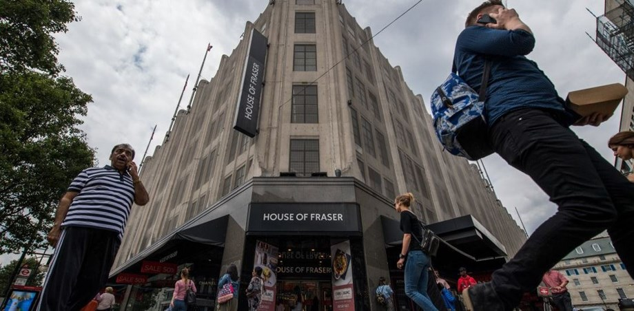 British department store House of Fraser to appoint administrators