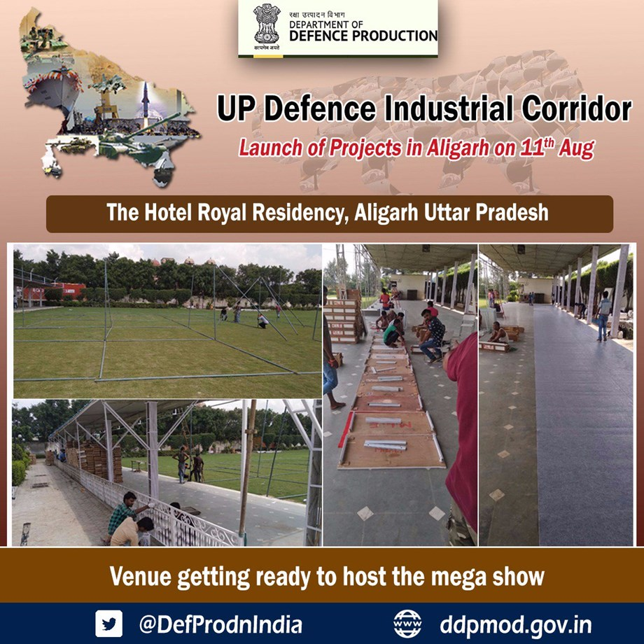 Centre to inaugurate UP Defence Industrial Corridor Projects at Aligarh