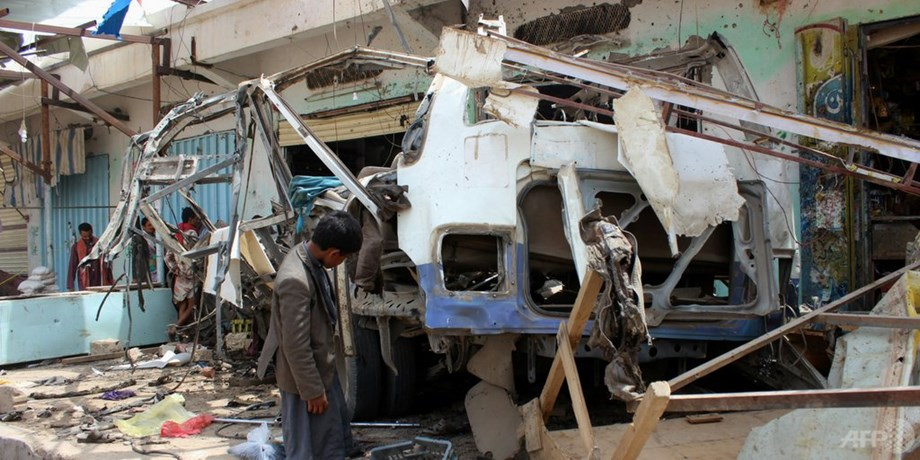 Germany condemns air strike on children's bus in Yemen's Saada