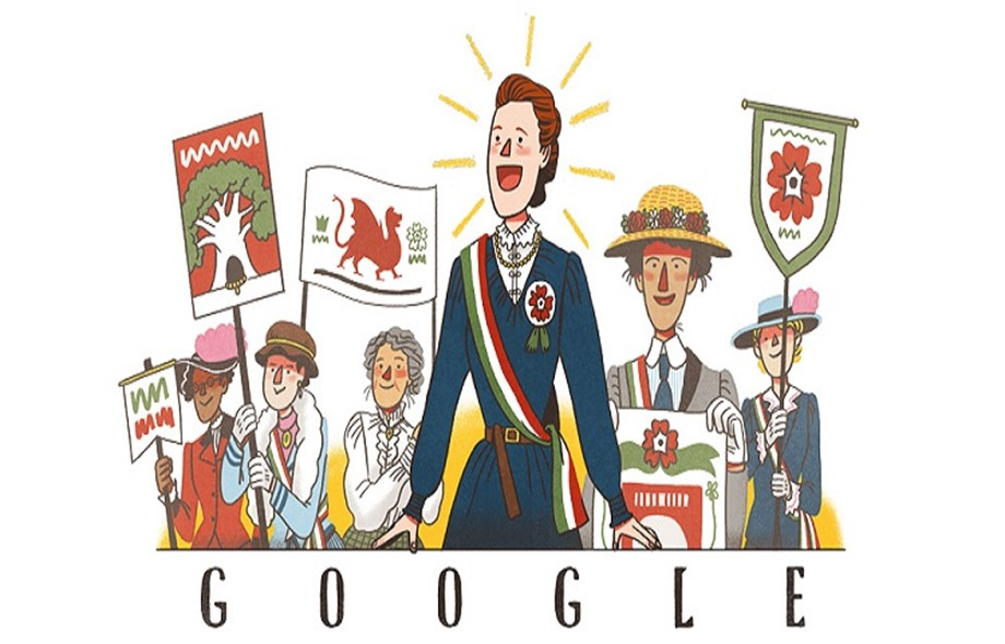 Google honors british feminist Millicent Fawcett with doodle