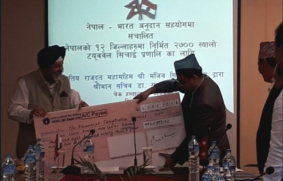India extends INR 99 mn financial aid to Nepal for installing shallow tube wells