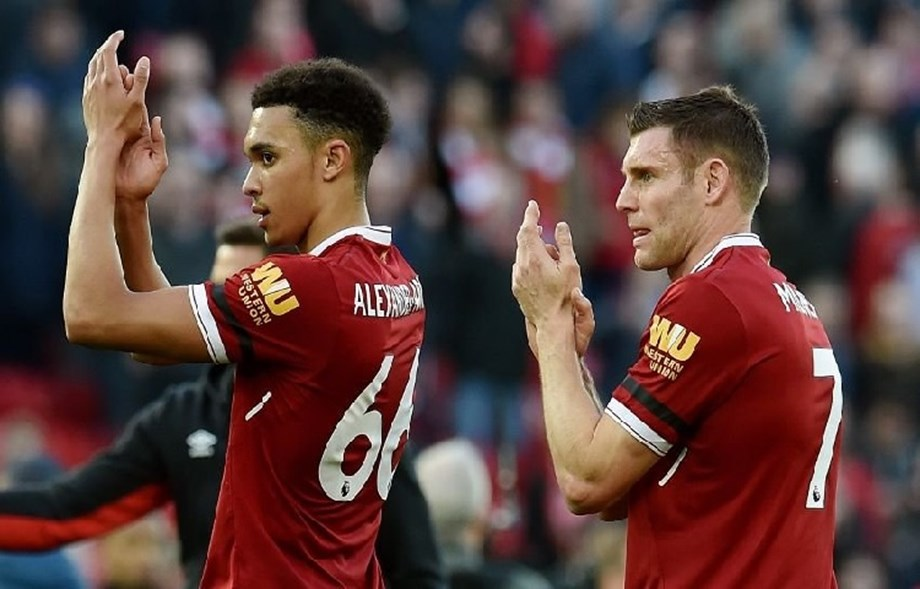 Players like Milner key to youngsters' development, says Alexander Arnold