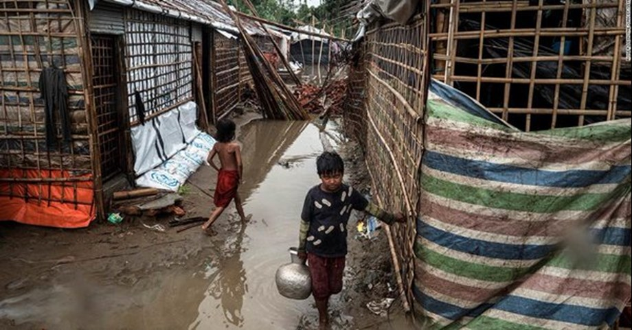 UN: Heavy rains causes severe structural damage to Rohingya camps