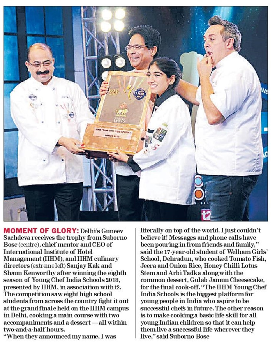 8th Young Chef India Schools Competition won by Amritsar girl Guneev Sachdeva