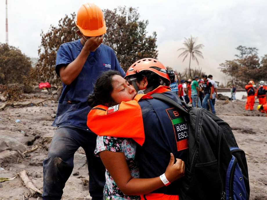 UNHCR supporting people evacuated from Guatemala after Volcan de Fuego eruption