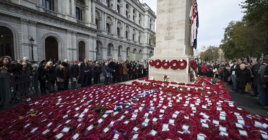 Thousand to march past Cenotaph in UK to mark centenary of Armistice