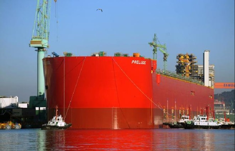 Shell feeds gas to Australia's new Prelude floating unit