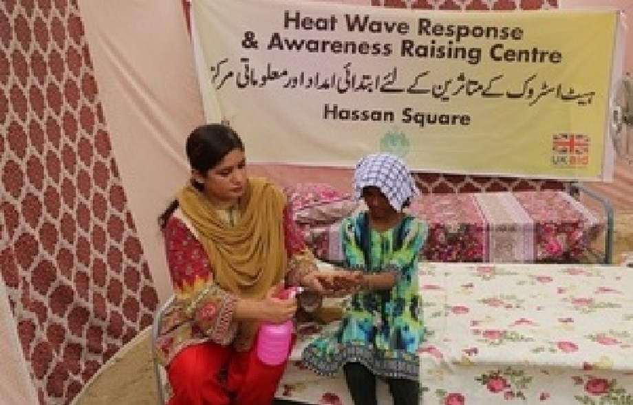 The UK funds life-saving heat stroke relief camps in Karachi