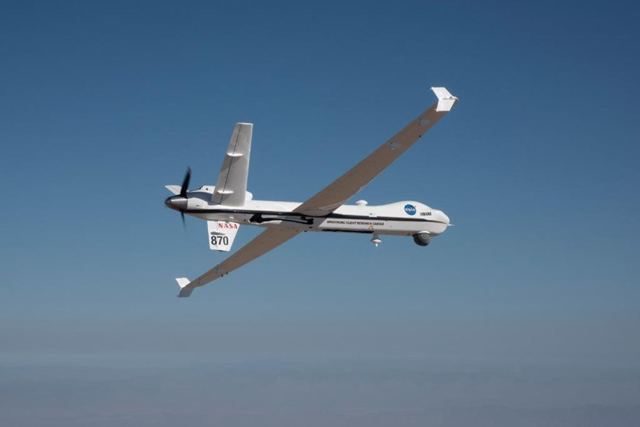 'NASA flies unmanned Ikhana aircraft in public airspace