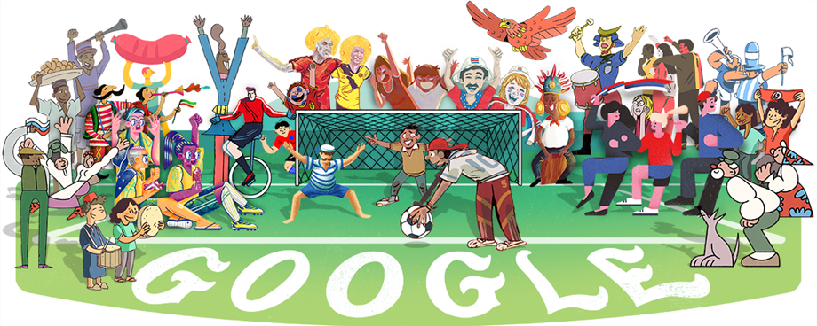 Google Doodle on World Cup 2018 - Day 1