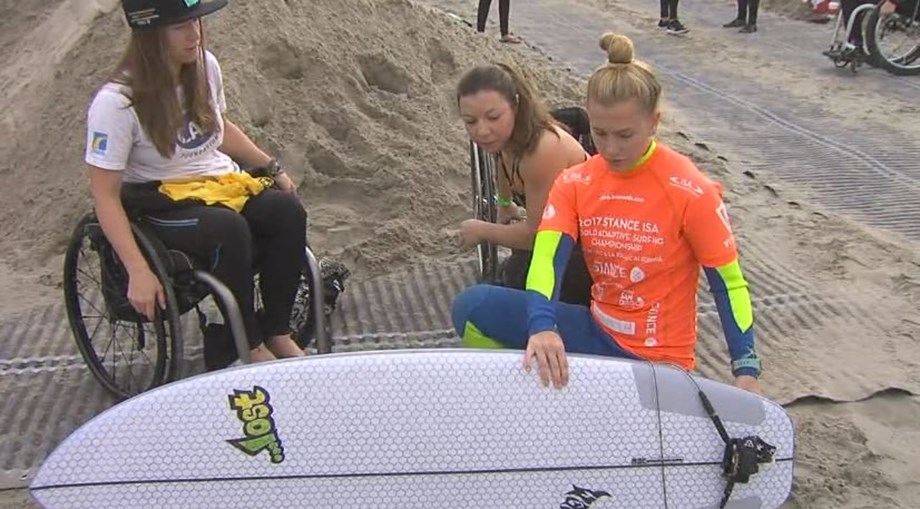 Israel holds its first competition for physically-challenged surfers