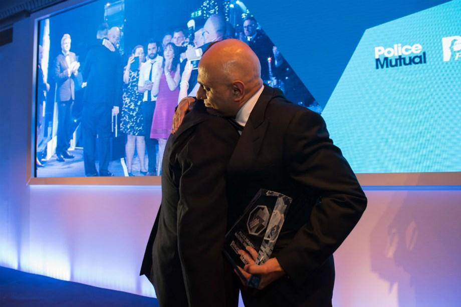 UK's Home Secretary presents awards for police bravery