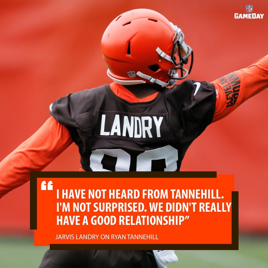 Jarvis Landry and quarterback Ryan Tannehill weren't very close in Miami, says Landry
