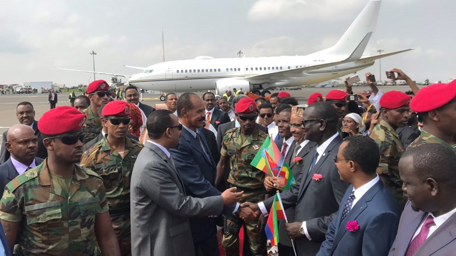 Eritrean President Afwerki in Ethiopian capital for three day visit