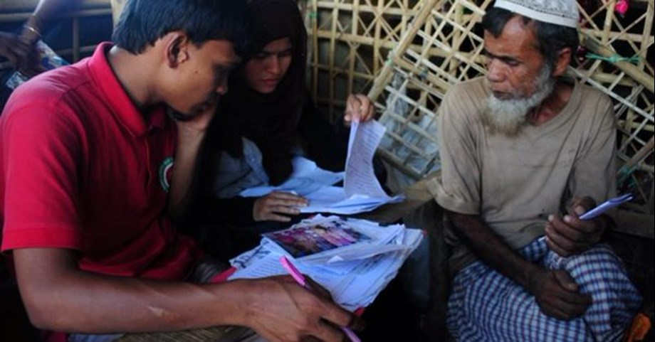 Letters connecting Rohingya families torn apart by violence
