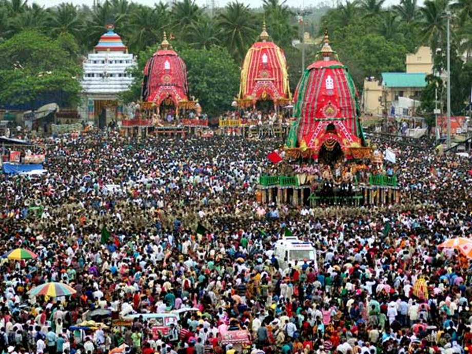 'Nandighosh' chariot of Lord Jagannath reached Gundicha temple
