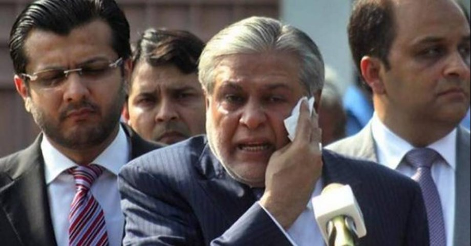 Pakistan issues red warrant against former finance minister Ishaq Dar