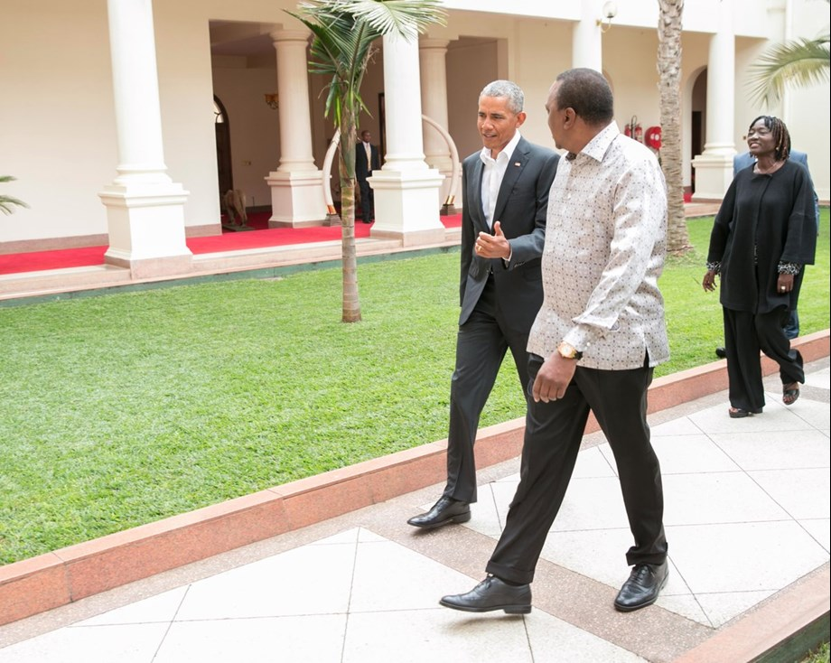 Barack Obama in ancestral home Kenya to launch sister's project