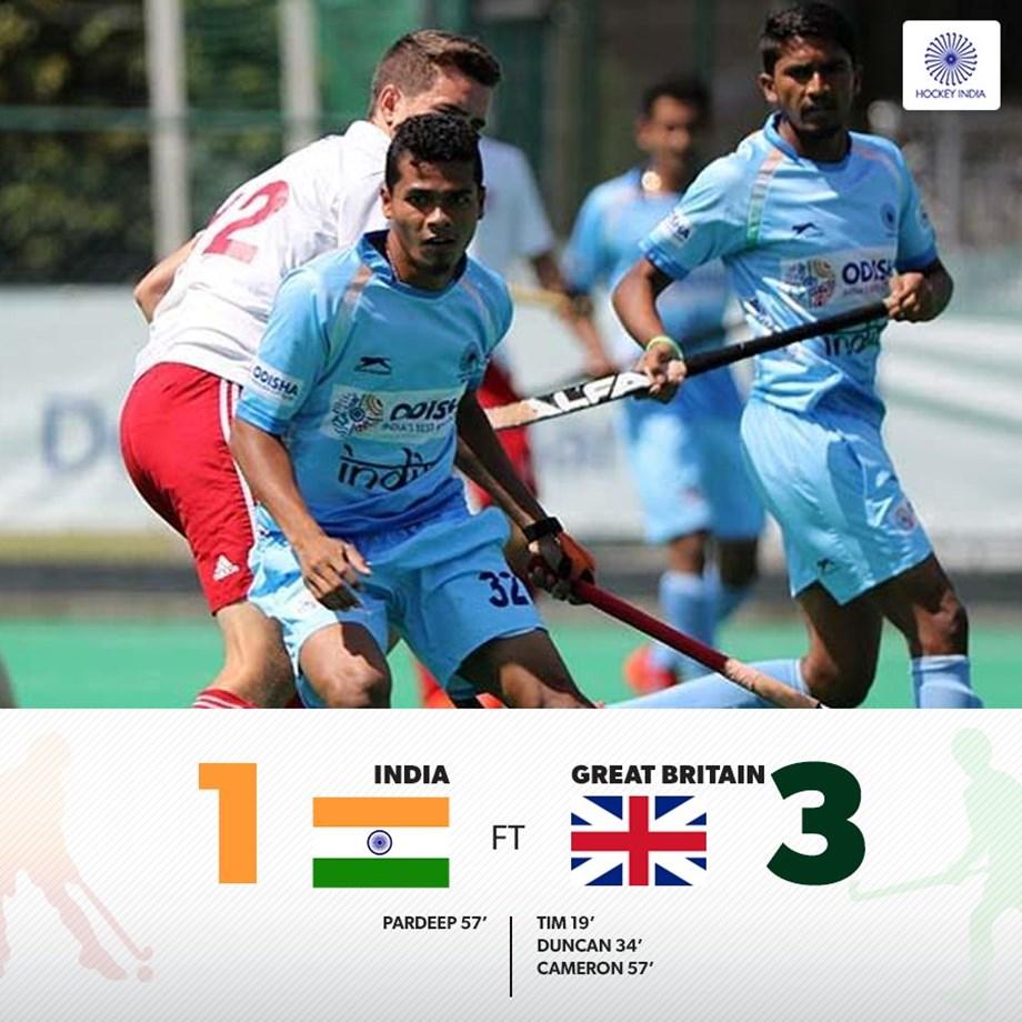 Indian junior men's hockey team lose 1-3 to Great Britain