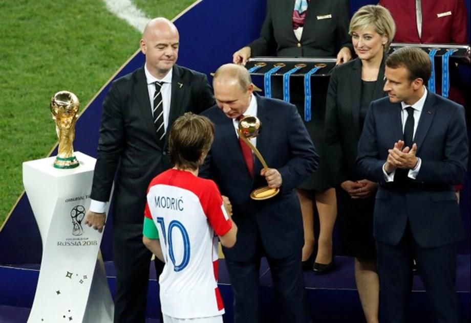 Croatia's Luka Modric wins best player of World Cup award