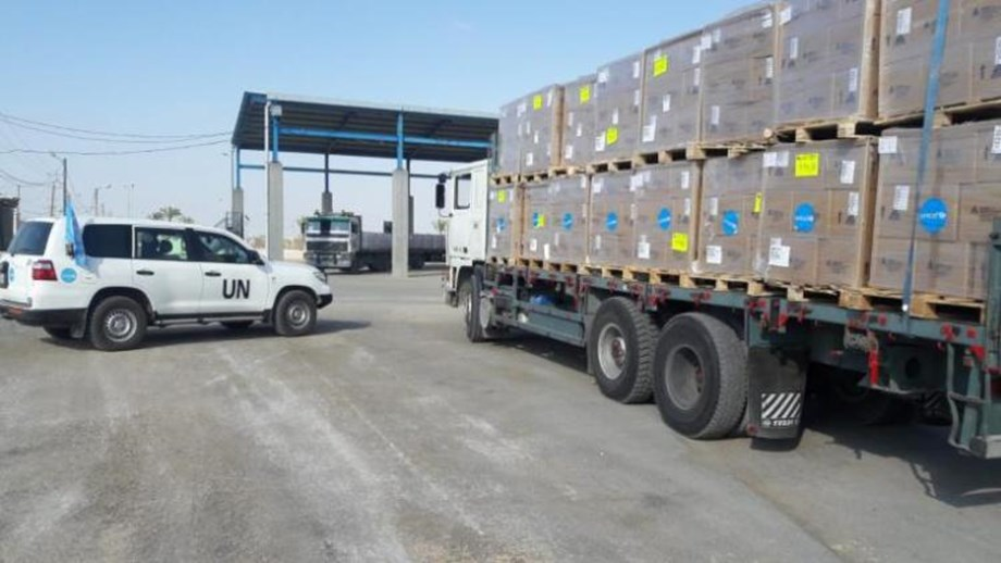 UNICEF delivers urgently needed health supplies for 70,000 people in the Gaza Strip
