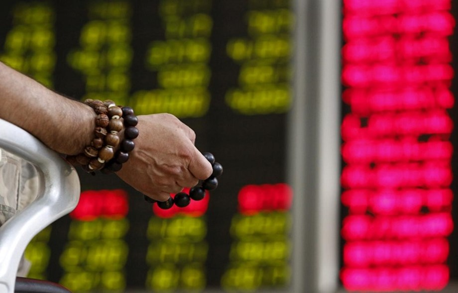 China's slow economic showdown leaves Asian shares on lower ground