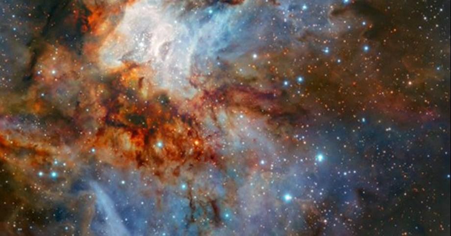 ESO's telescope captures 'Celestial artwork' of dust-shrouded star cluster