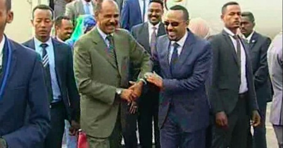 Ethiopia and Eritrea's leaders arrives to open Eritrean embassy in Addis Ababa