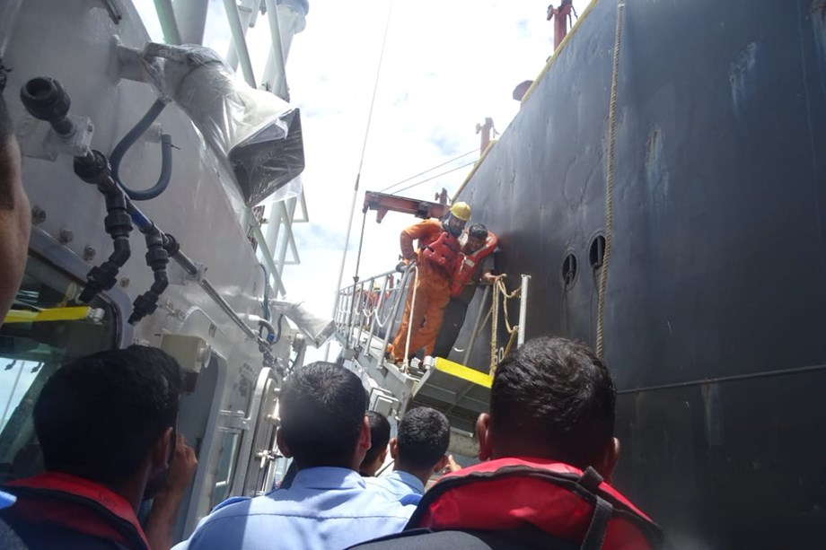 IGC: Coast Guard taking out diesel from merchant vessel