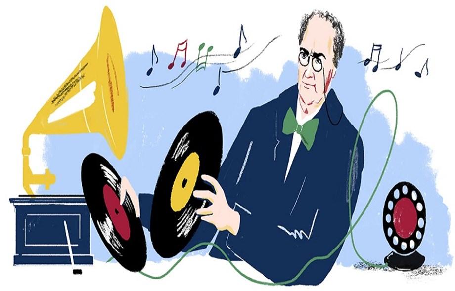 Google Doodle celebrates Emil Berliner's 167th Birthday