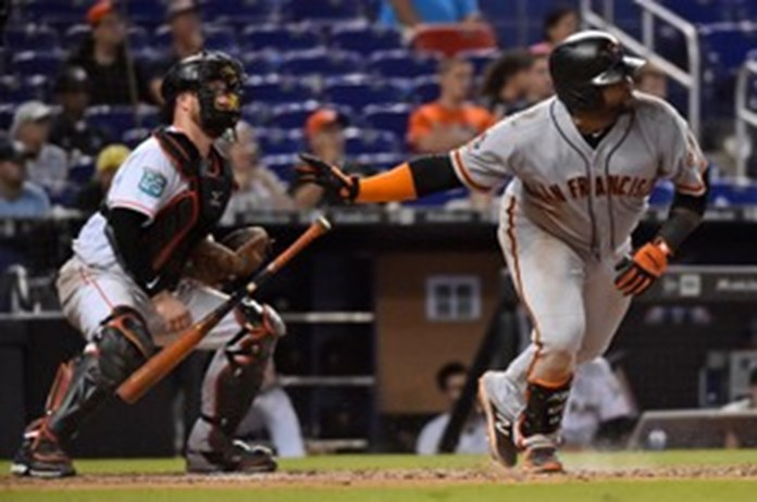 Giants top Marlins as emotions flare