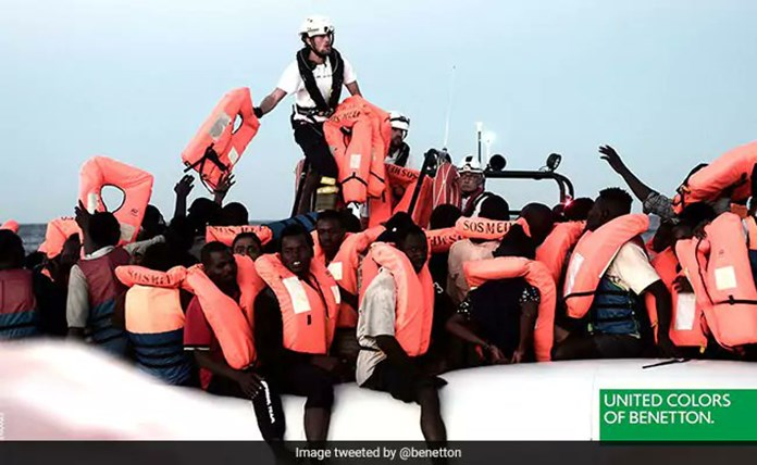 Benetton condemned for using rescued migrants in adverts