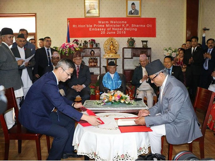 China and Nepal signs eight agreements on infrastructure
