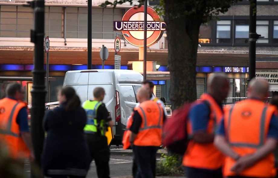"Man arrested over ""drill battery"" explosion at London station"