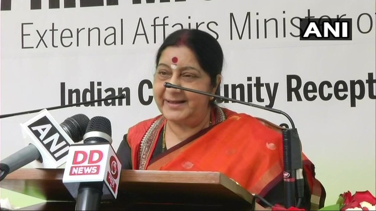 Swaraj calls on Luxembourg PM; discusses bilateral ties