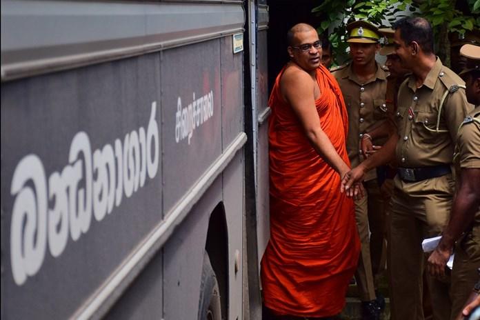 Buddhist groups protest in Lanka over monk's prison uniform